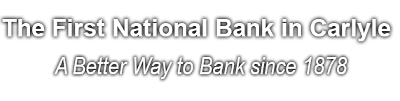 The First National Bank in Carlyle Homepage Banner